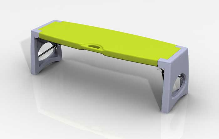Blow Molded Sports Bench Jim Hofman Design