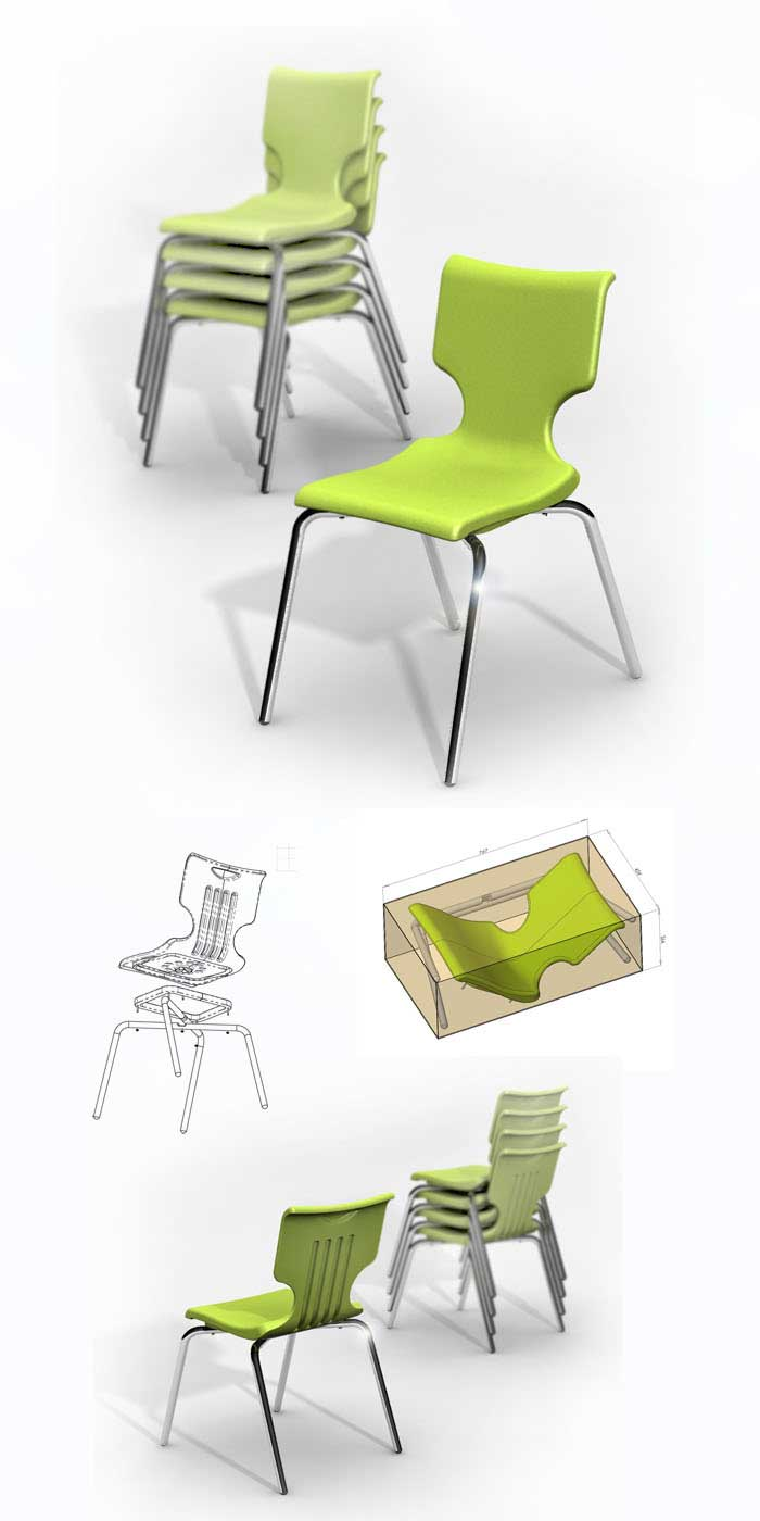 One-Piece-Stacking-Chair-Concept